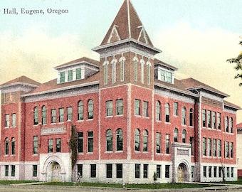 Eugene, Oregon, City Hall - Postcard - Vintage Postcard - Unused (Y)