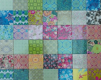 20 Handmade mismatched tile for wall use or coaster