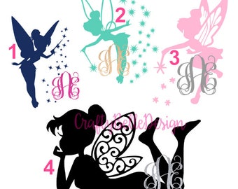 Disney Tinkerbell Decal | Tinkerbell Decal | Lilly Pulitzer inspired Tinkerbell Decal | Disney Decal | Disney Yeti Decal | Tumbler Decal