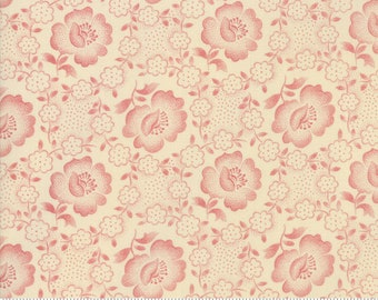 Moda Jos Shirtings by Jo Morton Cream Red Floral Civil War Reproduction Fabric 38040-23 BTY