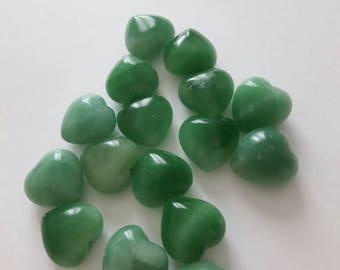 16 stones Amazonite heart