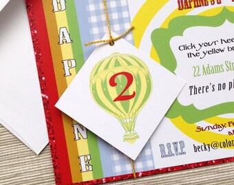 Zauberer von Oz inspiriert Einladungen für Geburtstag oder Hochzeit - Probe