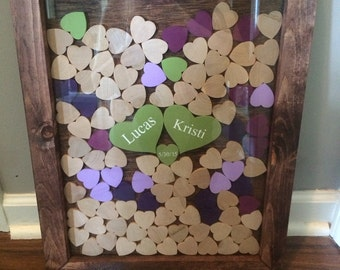 On Vacation 6/26-7/5 Wooden Drop Guest Book