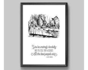Print - Alice In Wonderland - Entirely Bonkers