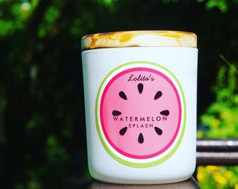 WATERMELON SPLASH/Handpoured Scented Soy Candle