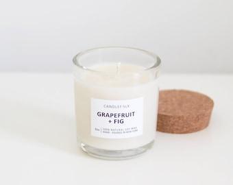 GRAPEFRUIT + FIG - 8 oz Soy Candle - Hand-Poured - Candlefolk