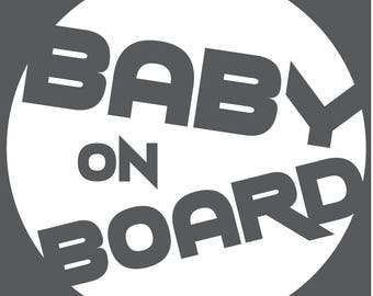 Baby On Board Decal - Circle Trek