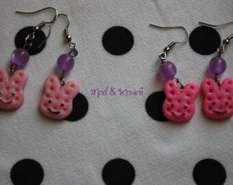 Earrings pink rabbit PROMOTION