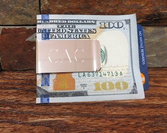 No-Slip Money Clip - Personalized - Engraved- Monogram Gifts for Men - (844)