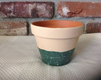 Speckled Flower Pot: Four inch
