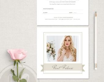 Photographer Print Release - Boudoir Photography Print Release Template, Photographer Forms, Photography Forms, Photo Release Form