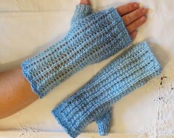Wrist Warmers Fingerless Gloves Hand Knitted