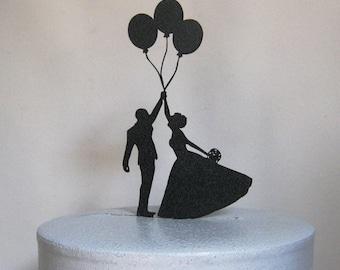 Wedding Cake Topper - Balloon Wedding