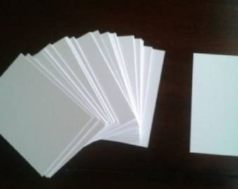 "ATC, ACEO, blank Cards, 100lb Bristol Smooth or 140lb (300g) cold press watercolor paper 3.5"" x 2.5"""