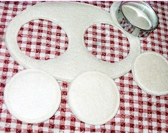 Felt play food - pretend food - play kitchen food - Cookie dough set Lets make some cookies #PF2564