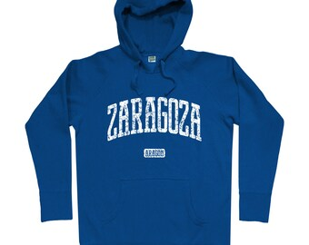Zaragoza Spain Hoodie - Men S M L XL 2x 3x - Zaragoza Hoody, Sweatshirt, España, Spanish - 4 Colors