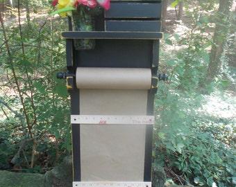 Paper Dispenser--Kitchen Doodle Pad-- Family Message Center--Childrens Doodle Paper--Message Board--Note board