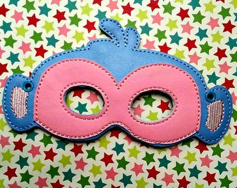Child's Mask - Boots the monkey from Dora - light blue vinyl