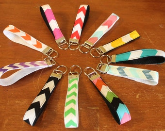 Chevron Fabric key chains,key fob