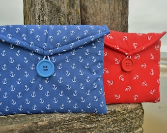 Nautical Anchors Print Gadget Tablet Bag - Various Sizes For All Popular Models