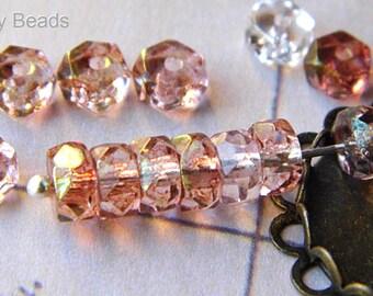 Rosaline, Rondelle Beads, Czech Beads, 3-2