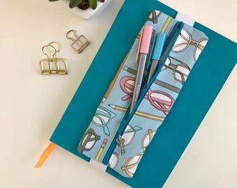 Pen Case, Glasses & Pencils, Pencil Case, Zipper Pouch, Zipper Pencil Case, Gift for Her, Birthday Gift