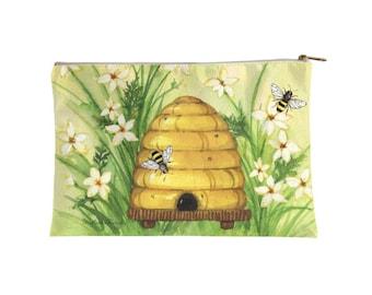 Bee Hive : zipper pouch