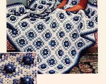 Crochet Afghan Pattern, Afghan Crochet Pattern, Motif Crochet, Bridal Shower Gift Idea,  INSTANT Download Pattern PDF (1007)