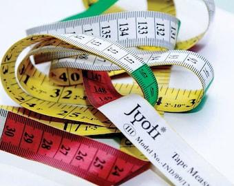 4 Colored PVC + Fibreglass 60 Inch / 150 Cm Long Cloth Measure Tape.