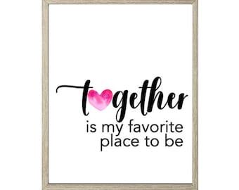 Love Printable - Together
