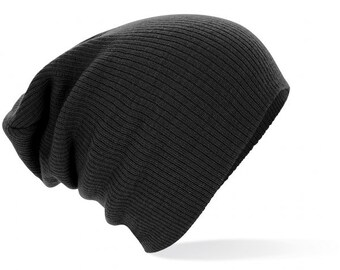 Made in FRANCE Retro vintage slouch beanie BLACK Opie sons of anarchy outlaws grunge hippie boheme hobo hispter tuque slouchy slouch hat