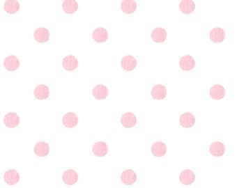 Pick your Yardage Polka Dot in Pink and White 100% Cotton Twill Fabric