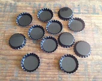 Black Metal Bottle Caps. Package of 12 Caps. Black Bottle Caps. Craft Bottle Caps. Blank Bottle Caps. Jewelry Bottle Caps. New Bottle Caps.