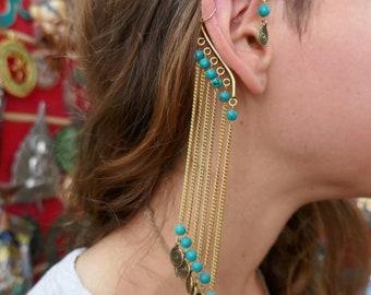 Indian style ear cuff