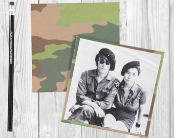 Writing journal, notebook, bullet journal, diary, sketchbook, blank  --Yoko and John - Journal/Sketchbook
