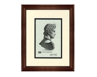 Print and Quotation of Augustus with Mat and Frame