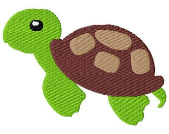 Turtle Embroidery Design - Instant Download