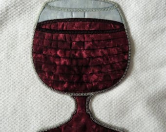 Wine glass coaster, wine glass rug, wine coaster