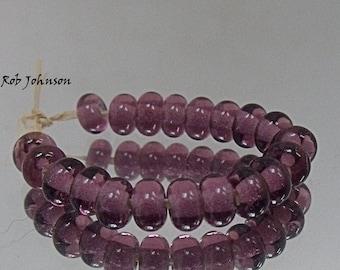 Amethyst, Artisan Lampwork Glass Beads, SRA, UK