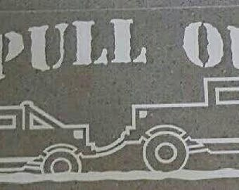 I Pull Out 4x4 outline Truck Vinyl Window Decal Bumper Sticker