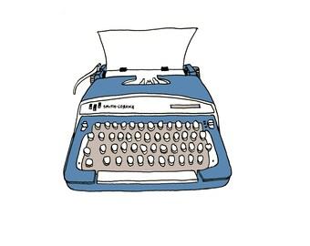 Smith Corona Typewriter Illustration print