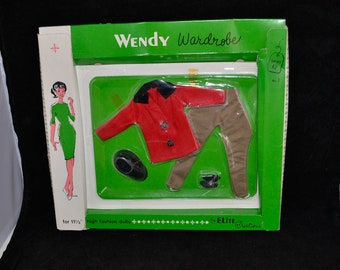 Minty NrfC 1962  Vintage Uneeda Wendy Bild Lilli Barbie doll Clone Elite Creations Fashion Outfit equestrian pant riding outfit