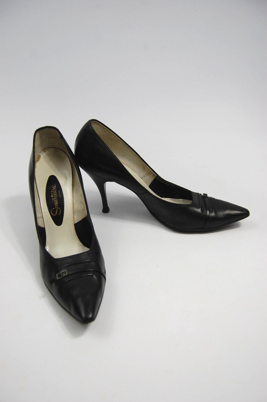 Au 1950 Années En 1960 Des Cuir Noir Début Fin Aiguilles aqFHw7Ty
