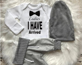 BABY BOY/Baby Boy Coming Home Outfit/Baby Shower Gift/Baby Gift/Newborn Boy Coming Home Outfit/Baby Boy Clothes/Expecting Mom Gift/Beanie