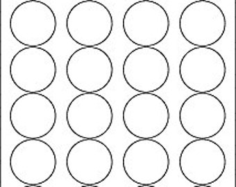 """1.67"""" Circle Label Printable Stickers - Inkjet and Laser Compatible - 72 labels - 3 sheets printer labels"""