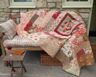 Star Medallion hand quilted patchwork quilt