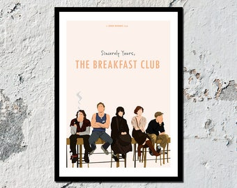 NEW & IMPROVED** The Breakfast Club high quality film print (A5, A4, A3)