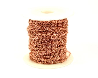 66 ft. 20 Meter Rose Gold 1.5x2 mm Soldered Chain