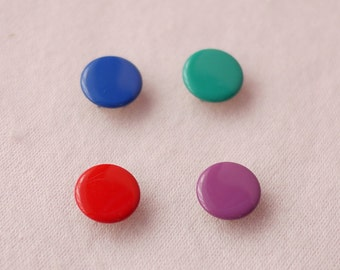 50 sets, Mixed Color (4 Colors) Capped Prong Snap Button Set 1, Size 18L (11.3 mm)