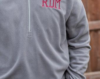 Monogrammed Men's 1/4 Zip Micro-Fleece Pullover